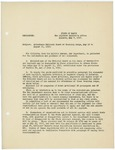 Memorandum regarding National Guard Training Camp attendance, May 7, 1917