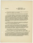 Memorandum regarding instructions from the Militia Bureau for calling out the National Guard and recruiting the same to war strength, June 12, 1917 by George McL. Presson