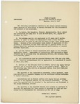 Memorandum regarding information about the second series training camps, July 7, 1917 by George McL. Presson